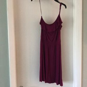 Purple dress one strap, adjustable